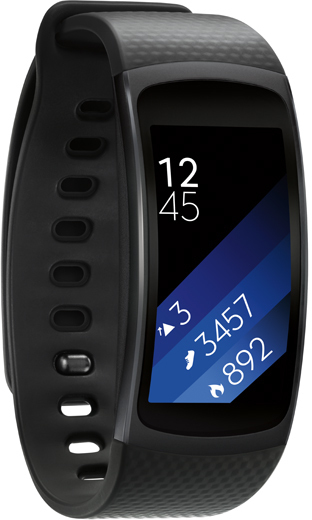 Samsung SMR3600DANXSG Gear Fit2 Fitness Band Small Dark Grey