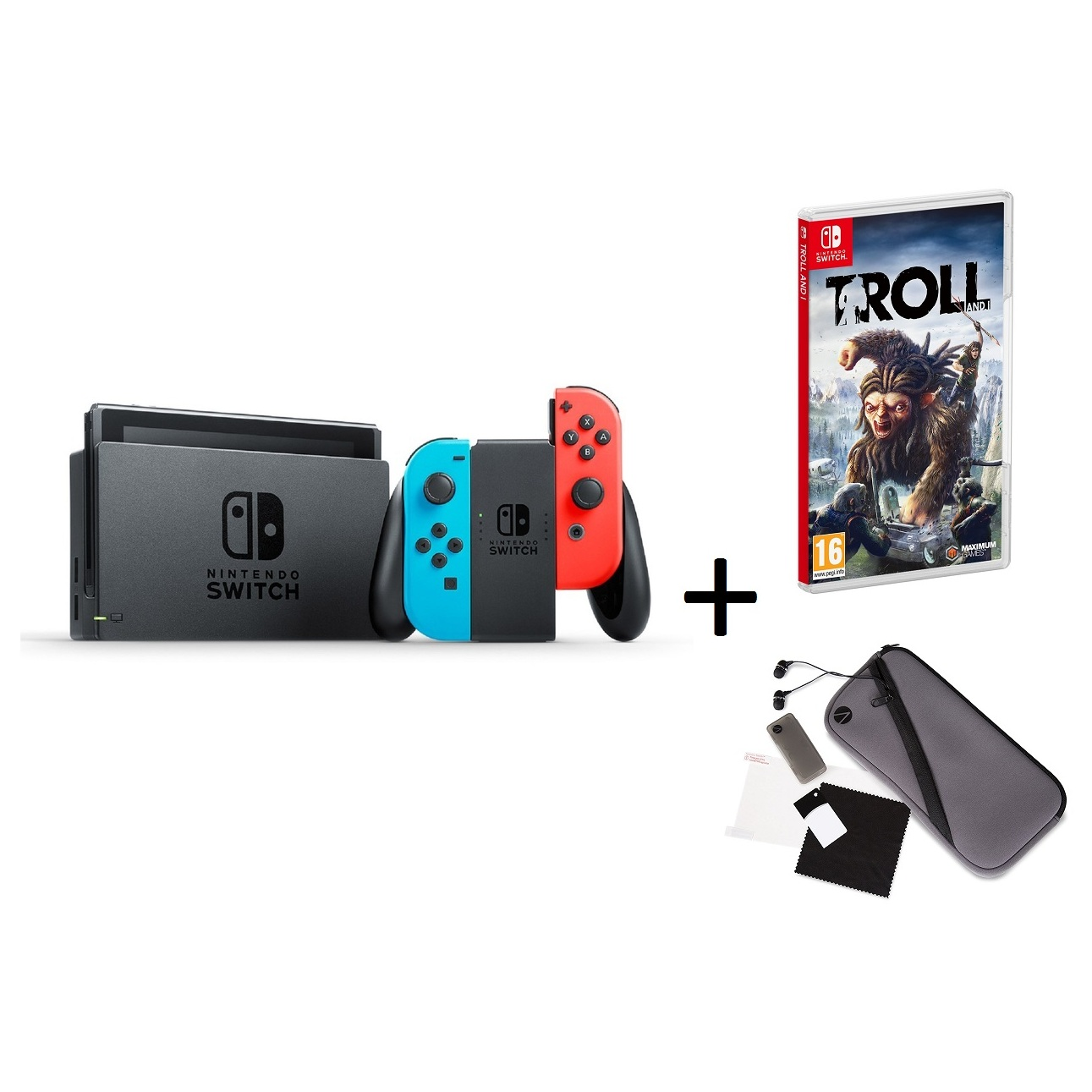 Nintendo Switch Console 32gb Red Super Mario Odyssey Game 2 Grey Bundle 2game 2amiibo With Neon Joy Con Stealth Sw1001 Starter Pack Troll I